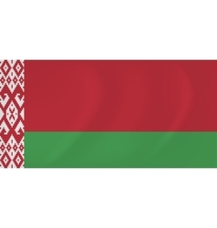 Byelorussia waving flag vector