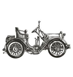 car retro logo design template transport vector image vector image
