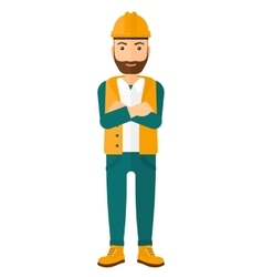 Cnfident oil worker vector