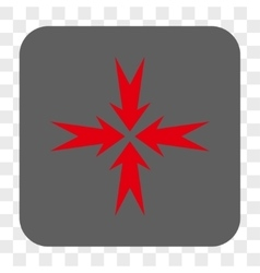 Compression arrows rounded square button vector