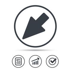 cursor icon computer position marker sign vector image