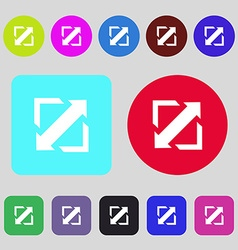 Deploying video screen size icon sign 12 colored vector