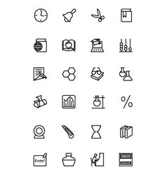 Education line icons 5 vector