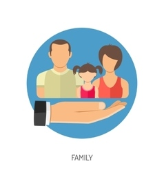 Family Insurance Icon vector image vector image