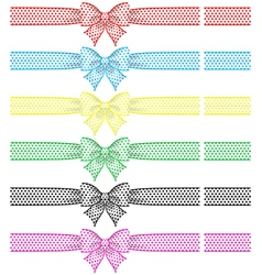 Festive bows with ribbons vector image