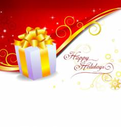 holiday gift vector image vector image