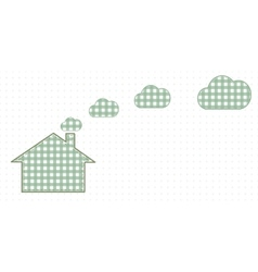 House and clouds from the chimney cute baby style vector