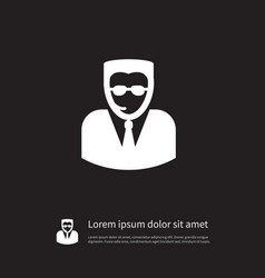 Isolated professional icon bodyguard vector