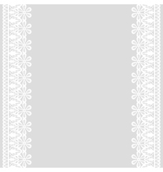 lace frame on gray background vector image vector image