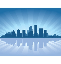louisville kentucky skyline vector image
