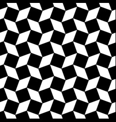 Monochrome abstract seamless square pattern - vector