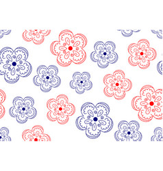 pattern flower ornate vector image