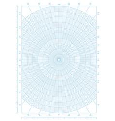 Polar coordinate circular grid graph paper vector