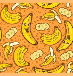 seamless pattern of bananas vector image vector image