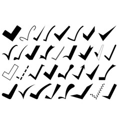 set of different check marks vector image vector image