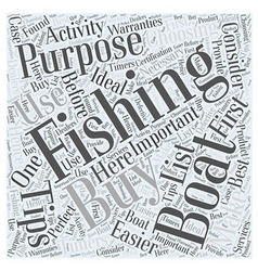 SF fishing boats buying tips Word Cloud Concept vector image vector image