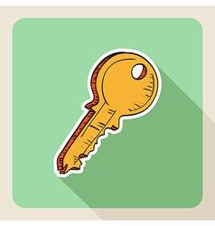 Sketch style real estate door key vector
