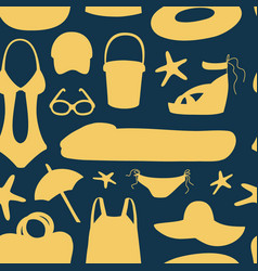 summer and beach accessories pattern vector image