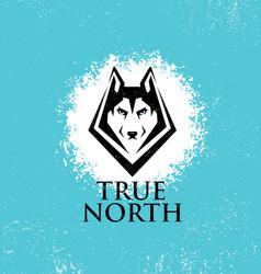 True north active lifestyle outdoor club husky vector