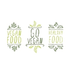 Vegan product labels vector