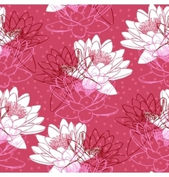 Seamless pattern with water lilies vector