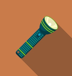 Flat design modern of flashlight icon camping and vector