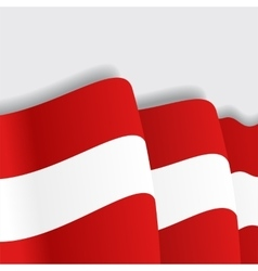 Austrian waving flag vector