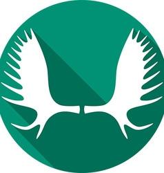 Moose Horns Icon vector image