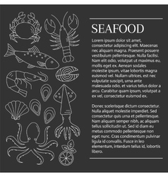 Fresh seafood background vector