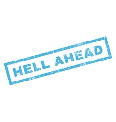 Hell ahead rubber stamp vector