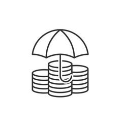 Protection money line icon vector