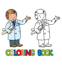 Engineer coloring book profession abc series vector