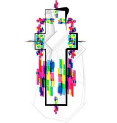Colorful Font - Letter t vector image