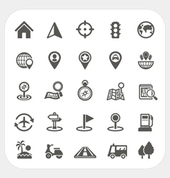 Map and Location icons set vector image