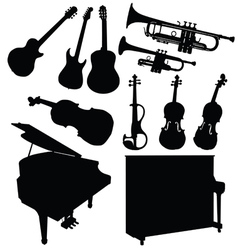 Music instrument black vector