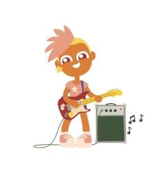 Punk rock girl vector