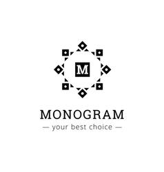 Elegant simple monogram logo geometric vector