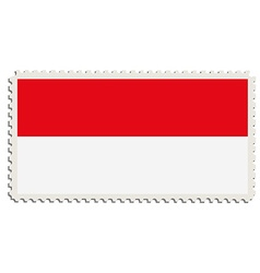 Indonesian flag post vector