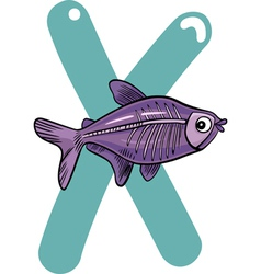 X for x-ray fish vector