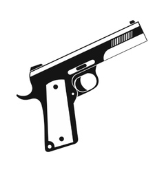 Gun icon black simple style vector image