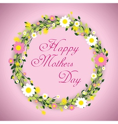 happy mothers day floral vector image