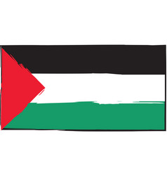 Abstract palestine flag or banner vector