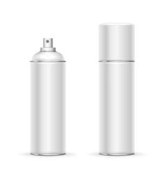 Blank aluminum spray can hairspray deodorant vector