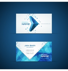 Blue arrow business card template vector image