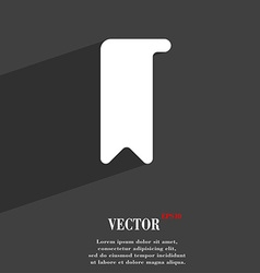 bookmark icon symbol Flat modern web design with vector image
