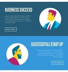 Business start up horizontal website templates vector image vector image