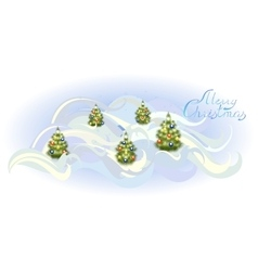 Card with Christmas trees EPS10 vector image vector image