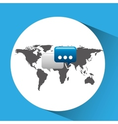 Concept globe chat speech social media vector
