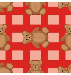Cute teddy bear seamless pattern vector image