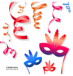 Digital blue red carnival vector